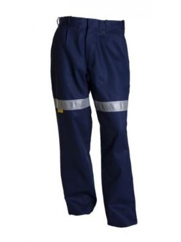 LIGHTWEIGHT COTTON WORK TROUSERS WITH 3M TAPE
