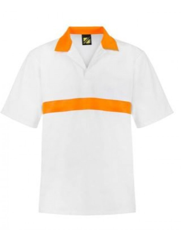JAC SHIRT WITH CONTRAST CHEST BAND - SHORT SLEEVE