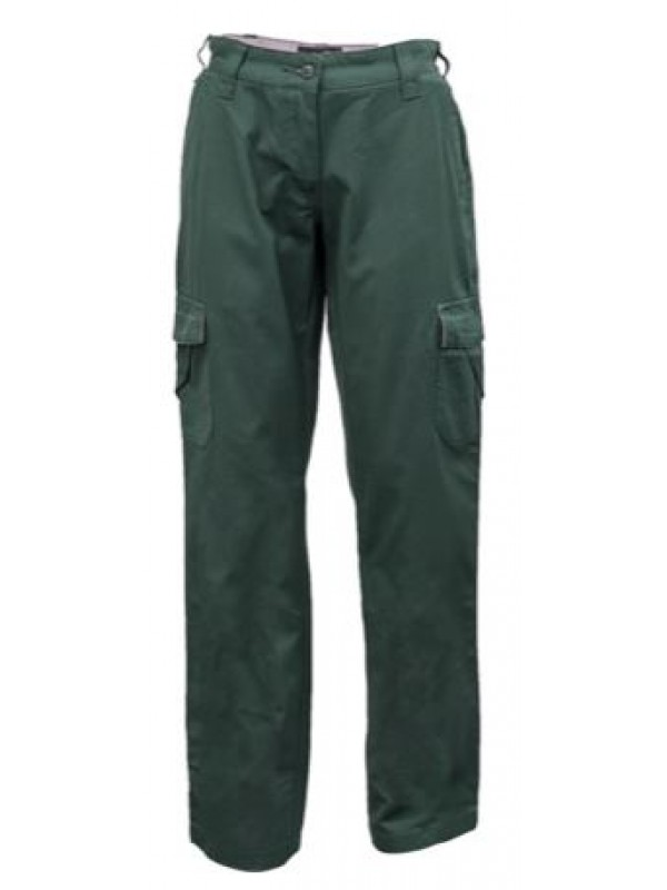 LADIES MID WEIGHT COTTON CANVAS CARGO PANTS