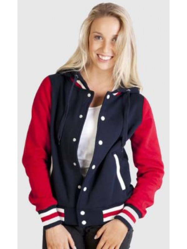 LADIES VARSITY JACKET & HOOD