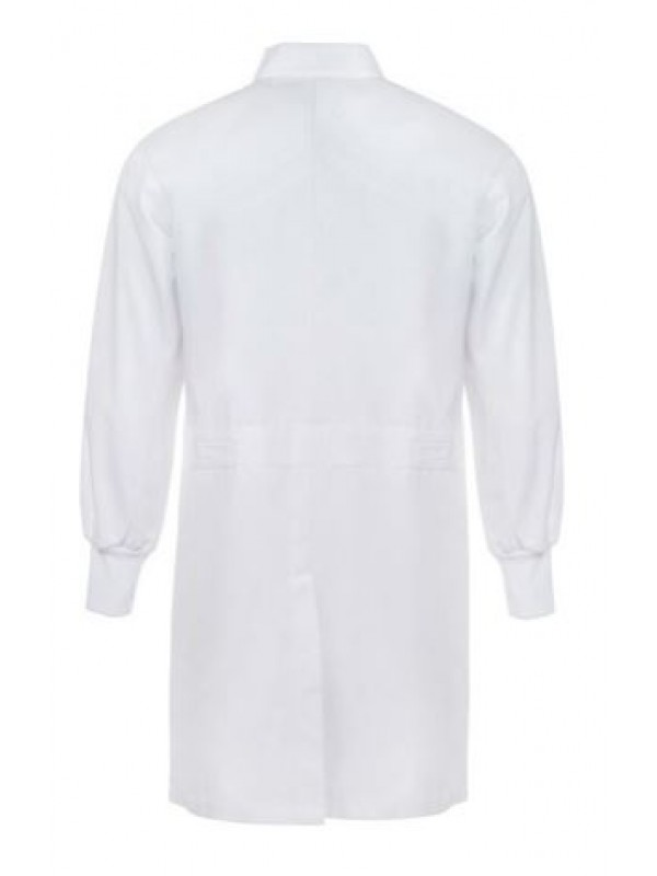 FOOD INDUSTRY DUSTCOAT WITH INTERNAL CHEST POCKET AND SIDE POCKETS - LONG SLEEVE
