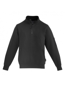 MENS 1/4 ZIP BRUSHED FLEECE